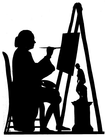 [William Mason: Silhouette of the sitter copying the Venus de Medici by Francis Mapletoft]