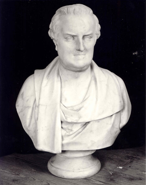 [Thomas Gray: Bust in white marble by William Behnes (1794-1864)]