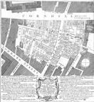 [Cornhill: Detail of a plan showing the great fire in the City of London that began on 25 March 1748]