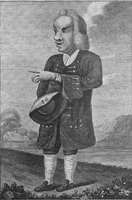 [Caricature of the Rev. Henry 			Etough - from an engraving by I. Parke of a sketch by 			William Mason (1724-1797)]