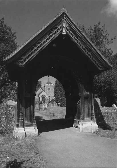 [The Lych Gate, St Giles Church, Stoke Poges: Photograph of the gate of the pathway through the churchyard, as it looks today ]
