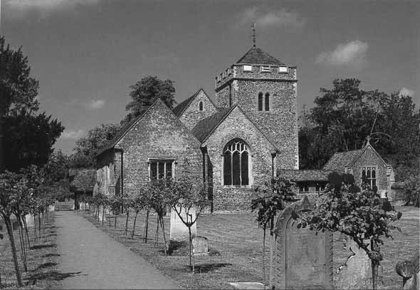 [St Giles Church, Stoke Poges: Photograph of the parish church, as it looks today]