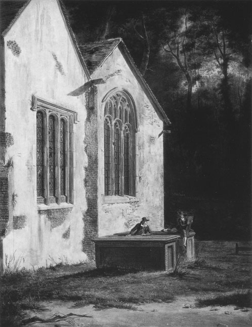 [Gray's tomb at Stoke Poges: Painting by Hendrick Frans de Cort (1742-1810)]