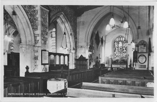 [St Giles Church, Stoke Poges: Interior ]