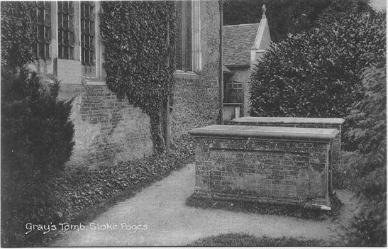 [St Giles Church, Stoke Poges: Photograph of Gray's tomb ]