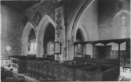 [St Giles Church, Stoke Poges: The Penn Pew ]