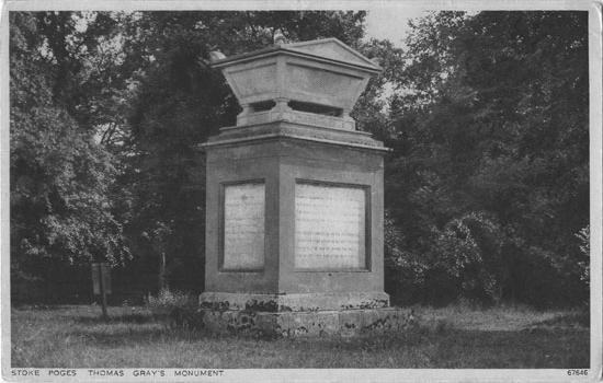 [Gray's Field, Stoke Poges: Thomas Gray's Monument ]