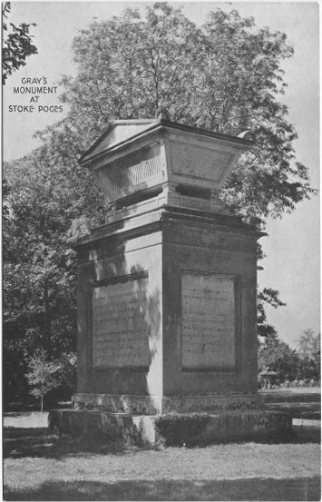[Gray's Field, Stoke Poges: Gray's Monument ]