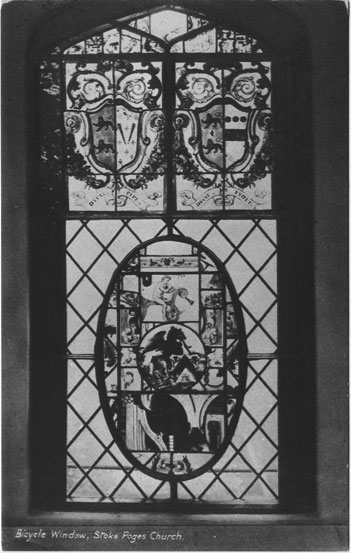 [St Giles Church, Stoke Poges: Bicycle Window ]