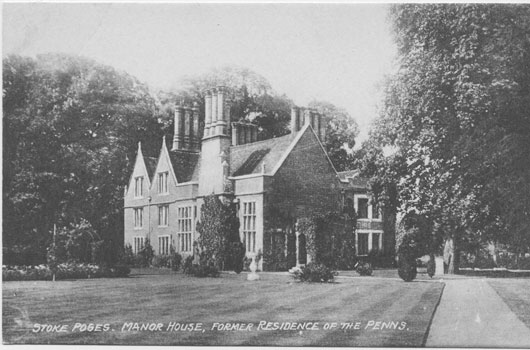 [The Manor House, Stoke Poges: former Residence of the Penns ]
